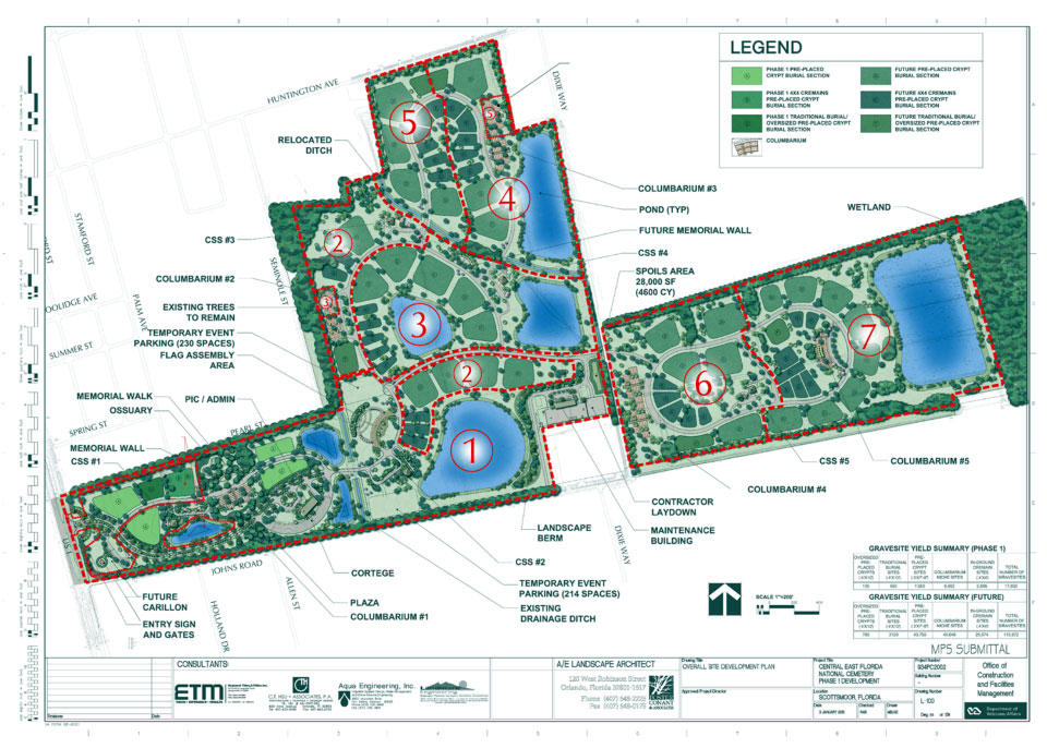 proposed veterans cemetery layout