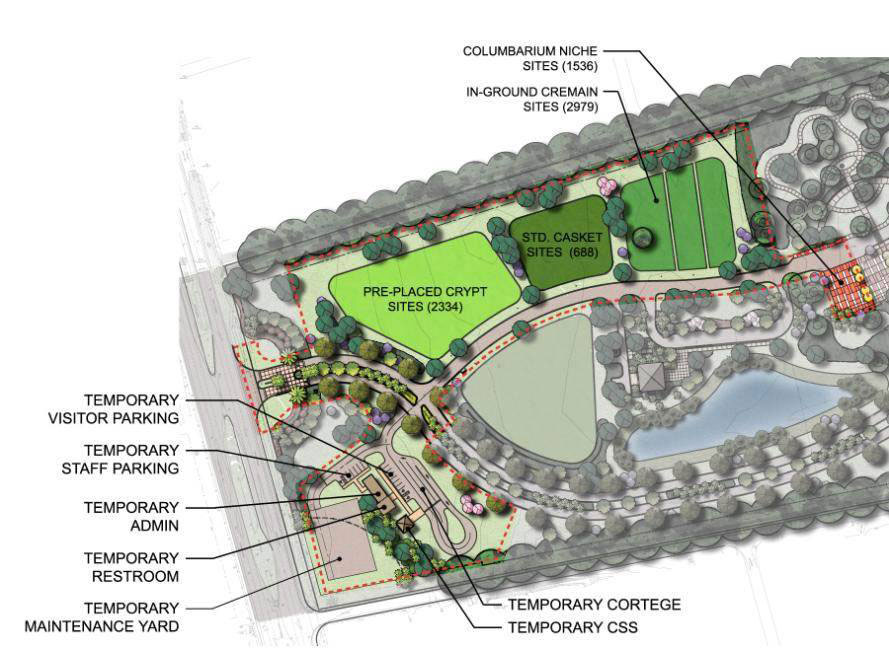 proposed veterans cemetery entrance layout
