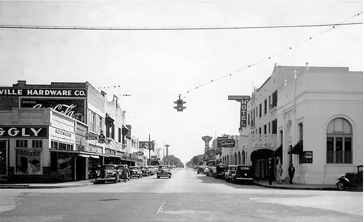 Downtown Titusville Florida in the 1930's
