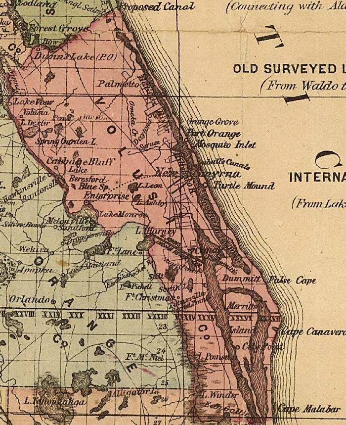 St Johns River To Indian River Canal By Michael Knight - Indian river lagoon map