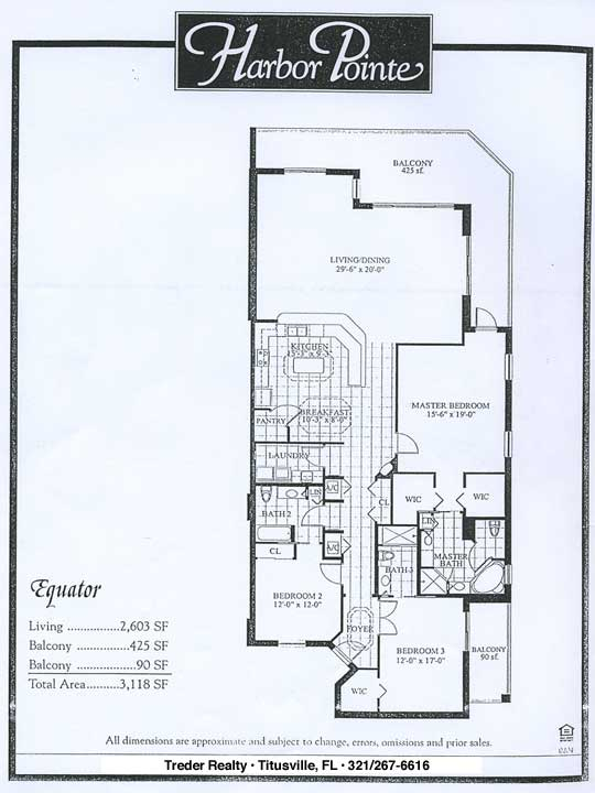 Harbor pointe condominium floor plans for Condominium floor plan