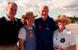 John Glenn Launch - John Glenn Jr. and family - Titusville, Florida