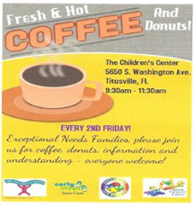 Coffee & donuts for special needs families - 2nd Fridays