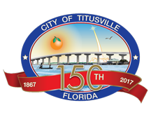 Logo of the Titusville FL Sesquicentennial