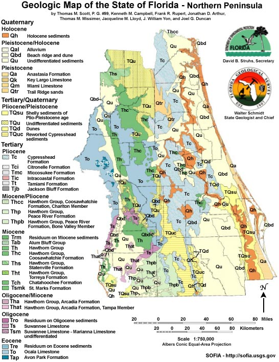 Florida Geology Enchanted Forest Nature Sanctuary Titusville - Map 0f florida